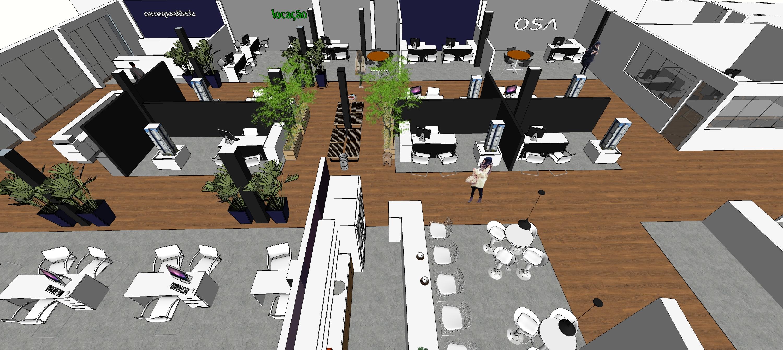 Projeto da Central de Negócios foi desenvolvido pelo Osvaldo Segundo Arquitetos Associados. Imagem: Reprodução
