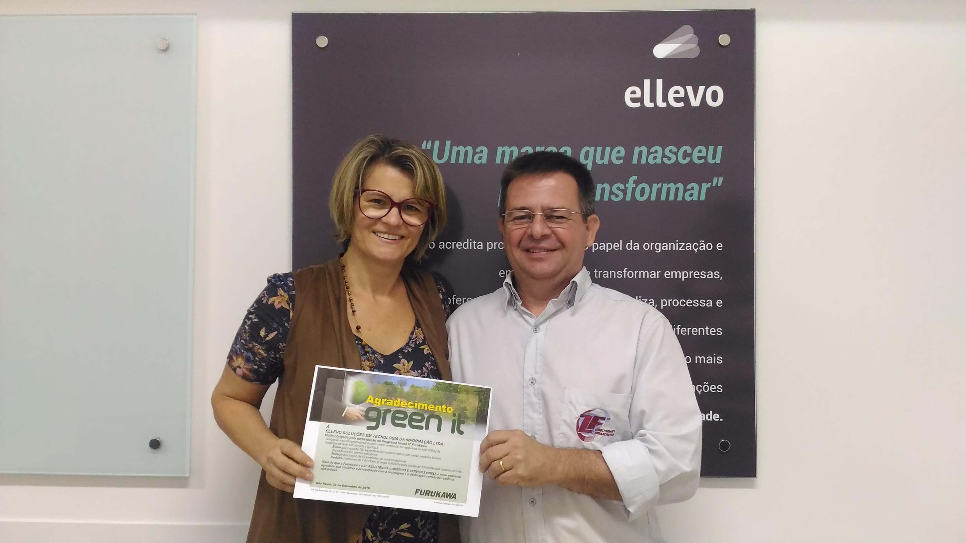 Ellevo recebe selo de sustentabilidade Green IT da global Furukawa