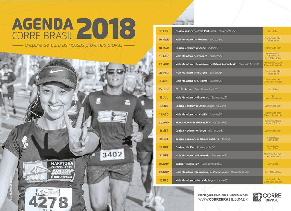 Agende-se: principais provas de corrida de rua em Santa Catarina já têm data marcada para 2018